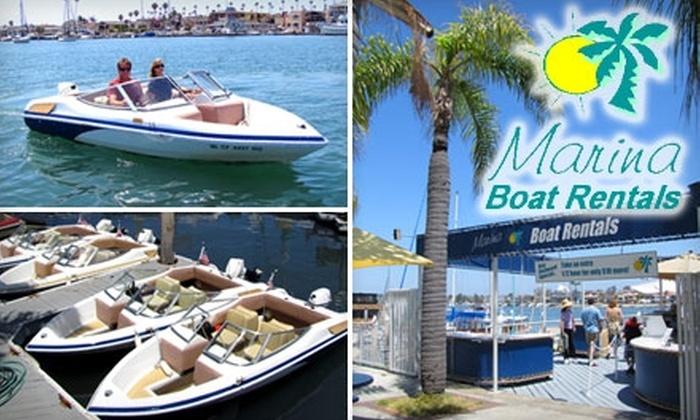 Marina Boat Rentals - Newport Beach: $33 for a One-Hour Runabout Boat Rental at Marina Boat Rentals