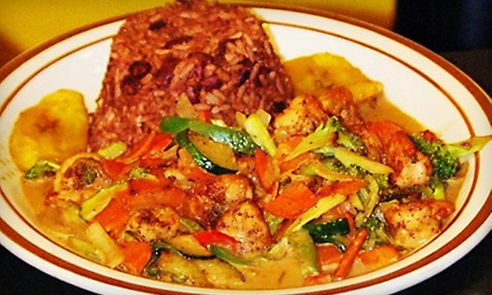 Sweet Fingers - Broadmoor District: $32 for an Authentic Jamaican Dinner for Two at Sweet Fingers in San Leandro (Up to $71 Value)