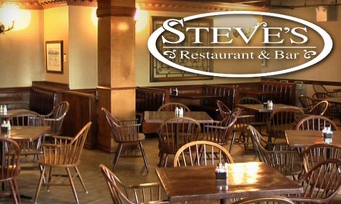 Steve's Restaurant Bar & Grill East Nashville - Nashville: $15 for $30 Worth of American Fare and Drinks at Steve's Restaurant & Bar