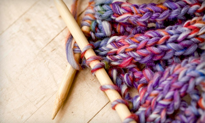 Mosaic Yarn Shop - McBryde: Teach-Yourself-to-Knit Kit or $10 for $20 Worth of Yarn and Knitting Supplies at Mosaic Yarn Shop