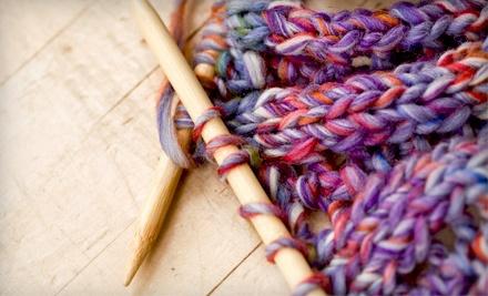 Teach-Yourself-to-Knit Kit ($20 value) - Mosaic Yarn Shop in Blacksburg