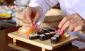 Wasabi Fusion Restaurant: $99 for Sushi and Sake Class for Two at Wasabi Fusion Restaurant ($200 Value). 39 Dates Available.