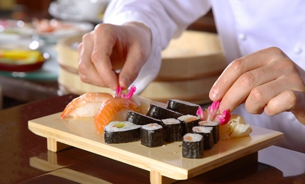 $99 for Sushi and Sake Class for Two at Wasabi Fusion Restaurant ($200 Value). 39 Dates Available.