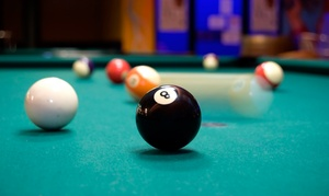 Stix Billiard Club: $12 for One Hour of Pool and a Large Pizza or Bucket of Beer for Two at Stix Billiard Club ($22 Value)