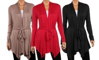 GROUPON: Women's Plus Size Draped Cardigan Women's Plus Size Draped Cardigan
