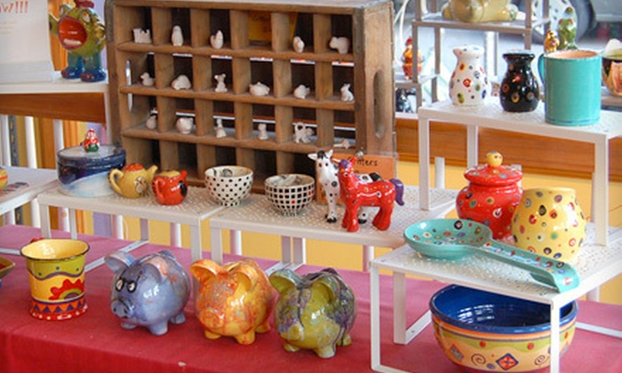 Made By Me - Cambridge: $20 for One Hour of Pottery Painting for Two at Made by Me in Cambridge (Up to $48 Value)