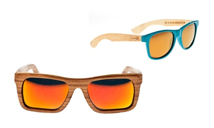 Earth Wood Unisex Sunglasses with Polarized Lenses from $59.99–$139.99