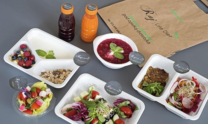 Catering dietetyczny z dostawą na 5 dni od 174,99 zł i więcej opcji w Raj Life Diet