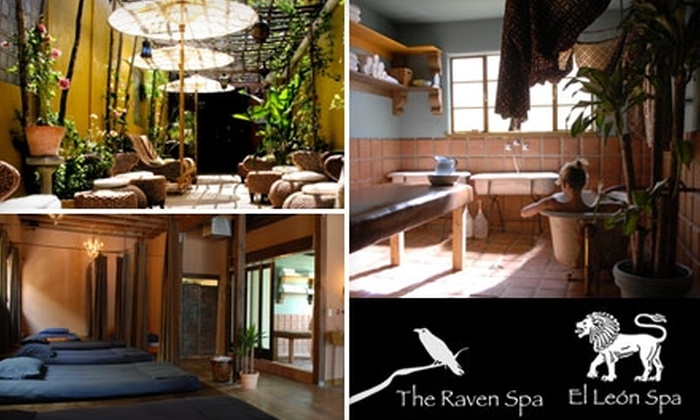 """The Raven Spa or El León Spa - Multiple Locations: $90 for Full-Body """"Rock Star"""" Treatment at The Raven Spa or El León Spa ($185 Value)"""