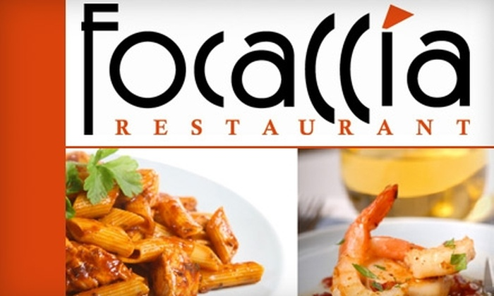 Foccacia Restaurant - Downtown Toronto: $20 for $45 Worth of Italian Fare at Focaccia Restaurant