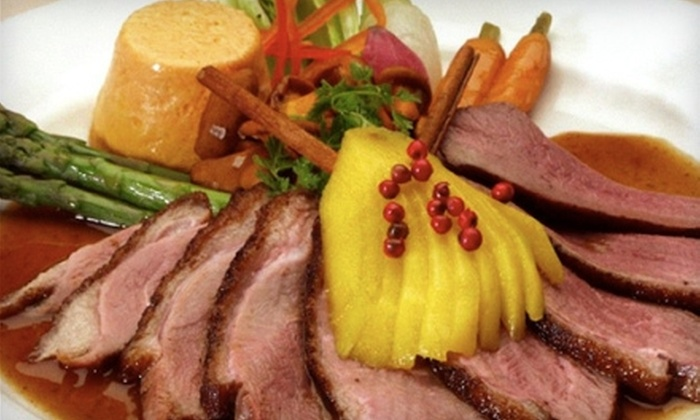 Cacharel Restaurant - North Arlington: $25 for $50 Worth of Upscale Dinner at Cacharel Restaurant in Arlington