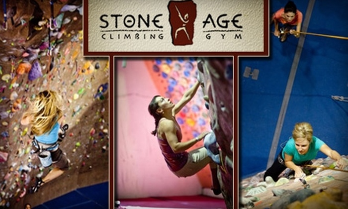Stone Age Climbing Gym - Albuquerque: $30 for One Indoor Rock-Climbing Class and One-Month Membership at Stone Age Climbing Gym