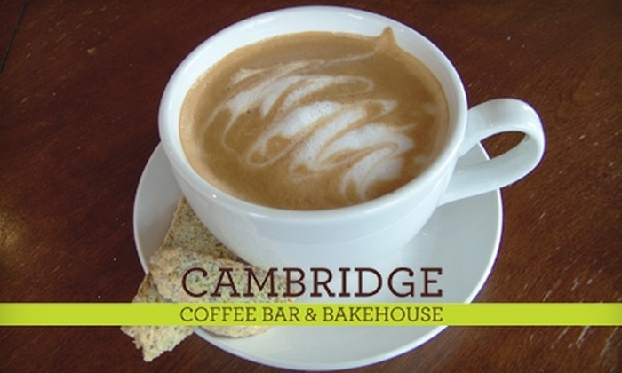 Cambridge Coffee Bar & Bakehouse - South Portland: $7 for $14 Worth of Coffee, Teas, Pastries, and More at Cambridge Coffee Bar and Bakehouse