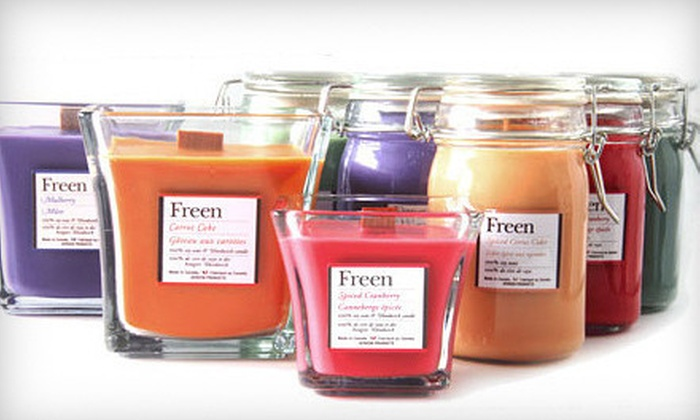 Freen: $10 for $20 Worth of Eco-Friendly Candles, Lotions, and Accessories from Freen