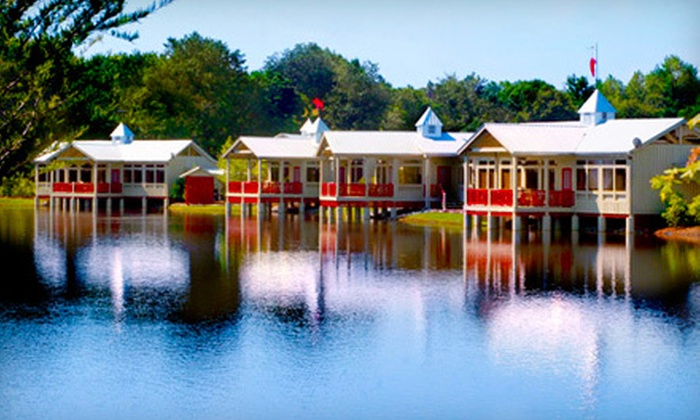 Flat Creek Lodge - Swainsboro, GA: $179 for a Two-Night Package for Two with Dining Credit and Wine at Flat Creek Lodge in East Georgia