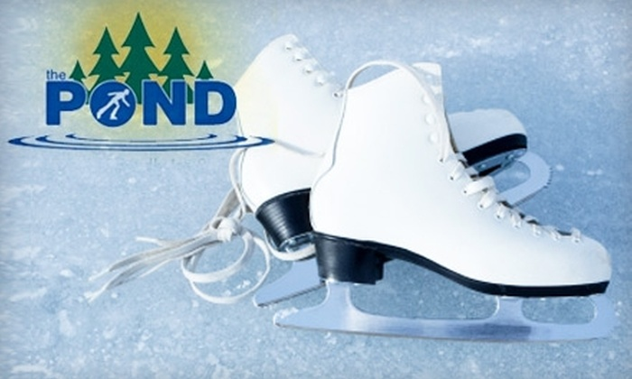 The Pond Family Friendly Ice Rink - Auburn: $15 for a Four-Person Family Pass to The Pond Family Friendly Ice Rink