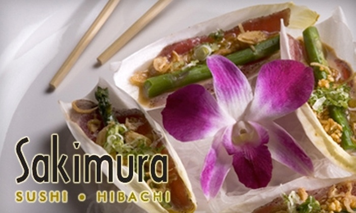 Sakimura  - Multiple Locations: $15 for $30 Worth of Japanese Cuisine and Drinks at Sakimura. Choose from Two Locations.