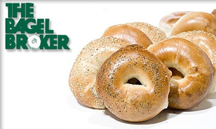 The Bagel Broker - Mid-Wilshire: $6 for a Dozen Bagels and 8 Ounces of Cream Cheese at The Bagel Broker ($12 Value)