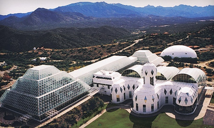 Biosphere 2 - University of Arizona Biosphere 2: Visit for Two or a Family Membership in Tucson (Up to 53% Off)