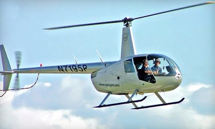 North Andover Flight Academy - Multiple Locations: $129 for a 50-Minute Introductory Helicopter Flight Lesson from North Andover Flight Academy ($215 Value)