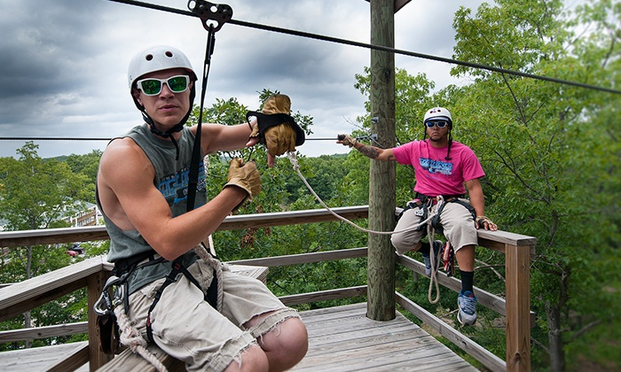 Indian Point Zipline - Indian Point: Zipline Adventure Tour for One, Two, or Four from Indian Point Zipline (Up to 45%Off). Six Options Available.