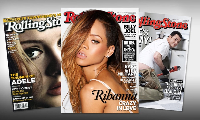 One-Year Subscription to Rolling Stone: $4.99 for a One-Year Subscription to Rolling Stone Magazine ($19.95 List Price). Free Shipping.