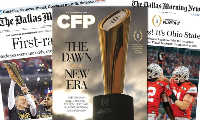 The Dallas Morning News: $6.95 for One Special-Edition College-Football Playoff Package from The Dallas Morning News ($8.95 Value)