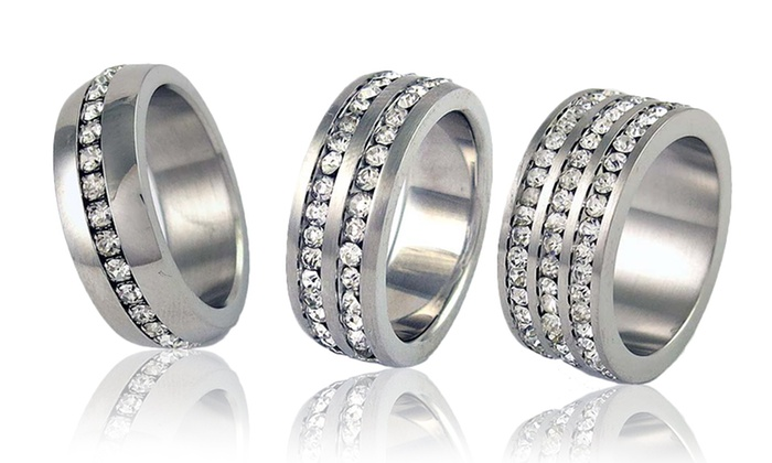 Cubic Zirconia Stainless Steel Bands: Men's and Women's Cubic Zirconia Stainless Steel Bands. Multiple Styles Available. Free Returns.