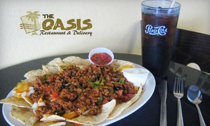 The Oasis - Scott Park: $8 for $16 Worth of Pizza, Salads, Sandwiches, and More at The Oasis