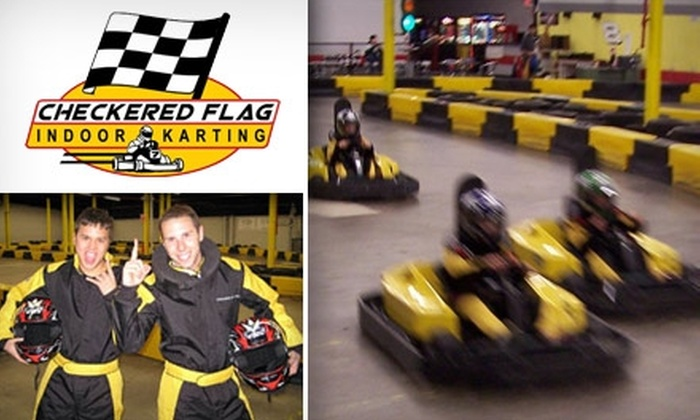 Checkered Flag Indoor Karting - Haverhill: $10 for a 30-Minute Mini-Cup Track Race Pass at Checkered Flag Indoor Karting ($20 Value)