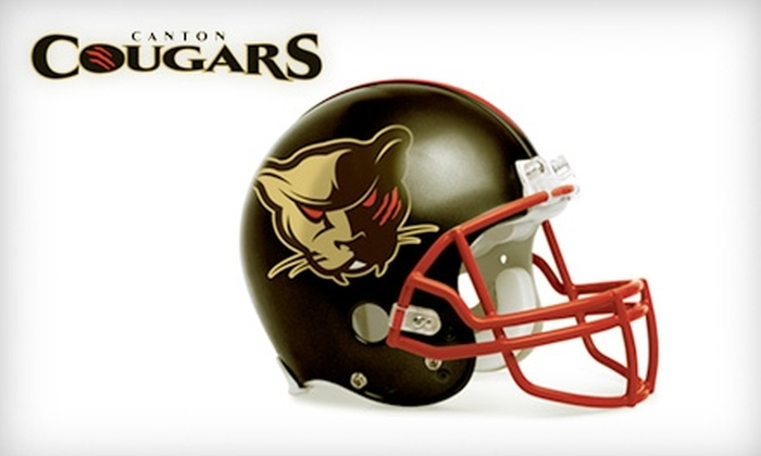 Canton Cougars - Canton: Tickets to Canton Cougars Arena Football. Choose from Two Dates and Seating Options.