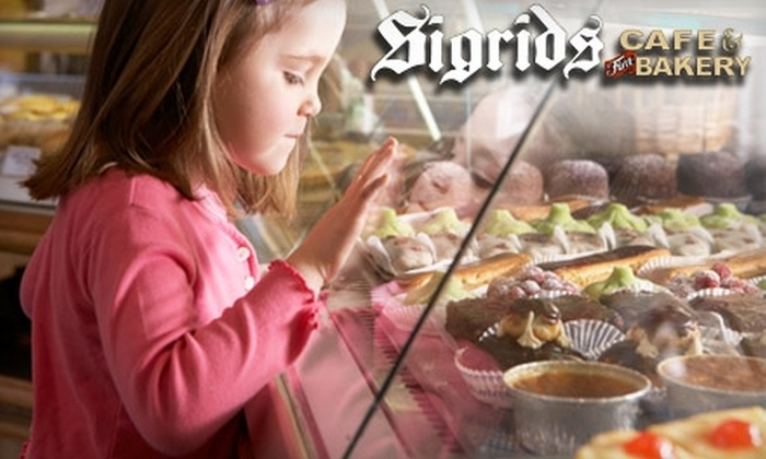 Sigrid's Cafe and Fine Bakery - City Center: $10 for $20 Worth of Baked Goods at Sigrid's Café & Fine Bakery