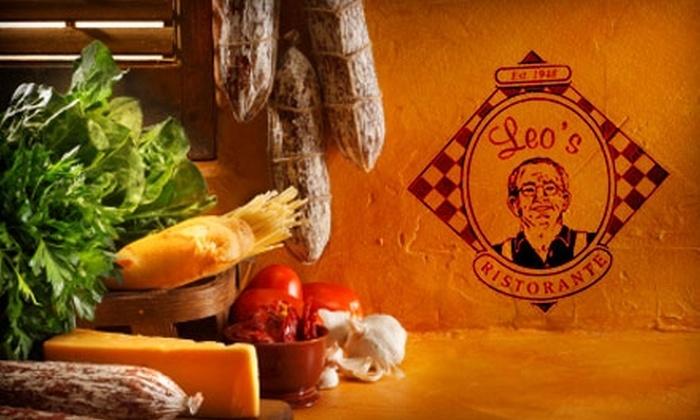 Leo's Ristorante - Bristol: $10 for $20 of American-Italian Fare and Drinks at Leo's Ristorante in Bristol