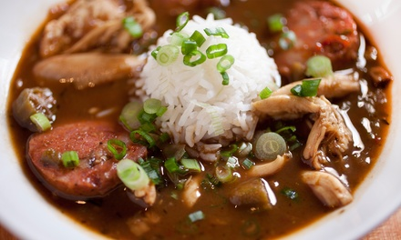 Gumbo Special Combo for Two, Kitchen Sink Combo for Four, or Takeout or Delivery at Nola Gumbo (Up to 55% Off)