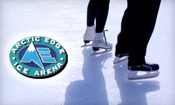 Arctic Edge Ice Arena - Northwest Oklahoma City: $12 for Admission for Two, Two Skate Rentals, and Two Soft Drinks at Arctic Edge Ice Arena