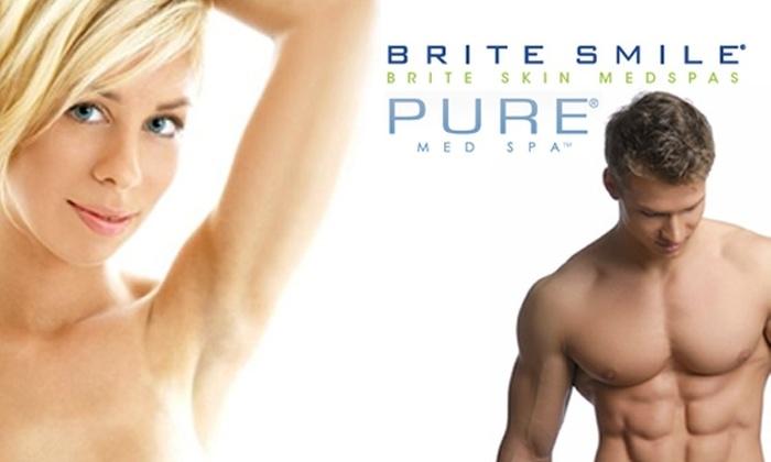 Pure MedSpa - Portland: $185 for Three Laser Hair Removal Treatments at Pure MedSpa
