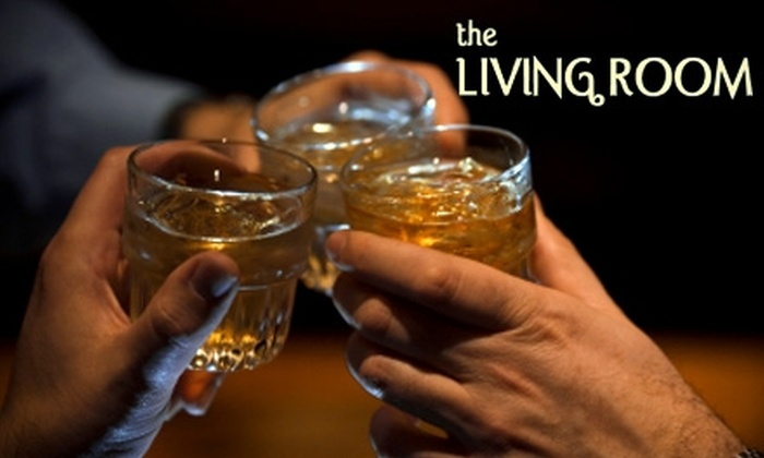 The Living Room - Broadway: $9 for $20 Worth of Cocktails and Bar Bites at The Living Room