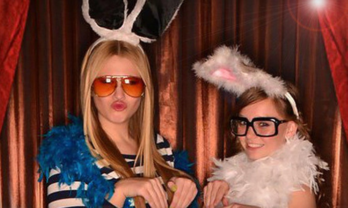 In-a-Flash Photobooths - In-a-Flash Photobooths: Three- or Four-Hour Photo-Booth Rental with Prints and Digital Images from In-a-Flash Photobooths (Up to 80% Off)