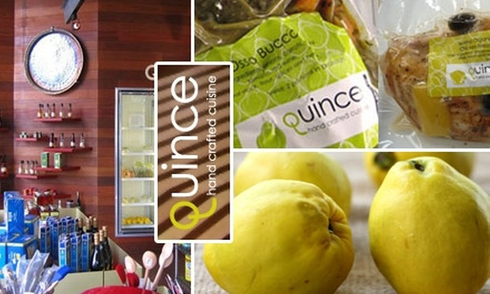 Quince - Kitsilano: $10 for $20 Worth of Homemade To-Go Fare from Quince