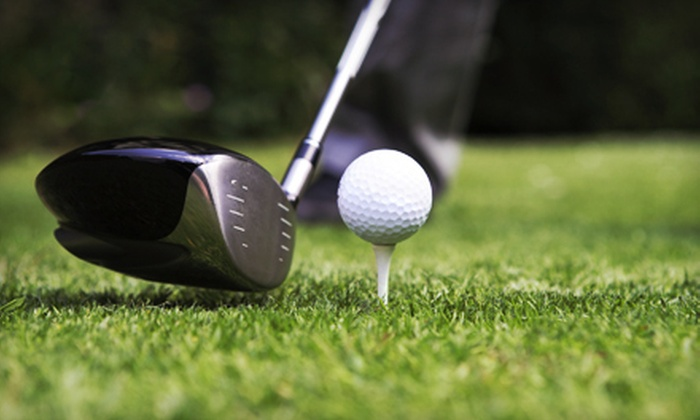 Riverside Golf Centre - Point McKay: $20 for Five Buckets of Balls for Indoor Driving Range at Riverside Golf Centre ($50 Value)