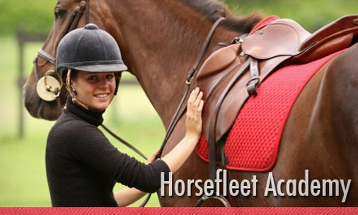 HorseFleet Academy - Wimauma-Lithia: $45 for Two English Horseback-Riding Lessons from HorseFleet Academy (Up to $100 Value)