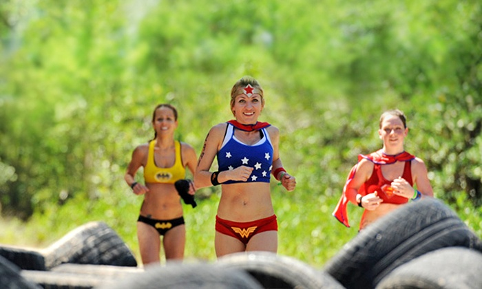 Superhero Scramble - Seagoville: Superhero Scramble Obstacle-Course Race on Saturday September 6, 2014 (Up to 67% Off). Two Options Available.