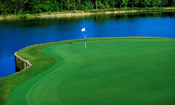 Noble Hawk Golf Links - Kendallville: $22 for 18 Holes of Golf Plus Cart Rental and Large Bucket of Balls at Noble Hawk Golf Links (Up to $51 Value)