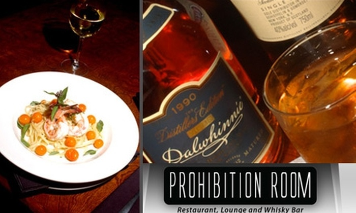 Prohibition Room - Central Oklahoma City: $20 for $40 Worth of Classic American Fare and Drinks at Prohibition Room