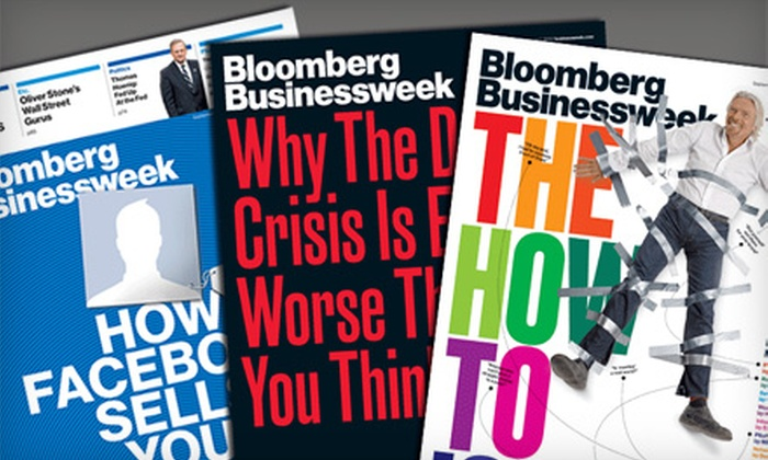 """Bloomberg Businessweek"" - Middlesex: $19 for 50 Issues of ""Bloomberg Businessweek"" ($40 Value)"