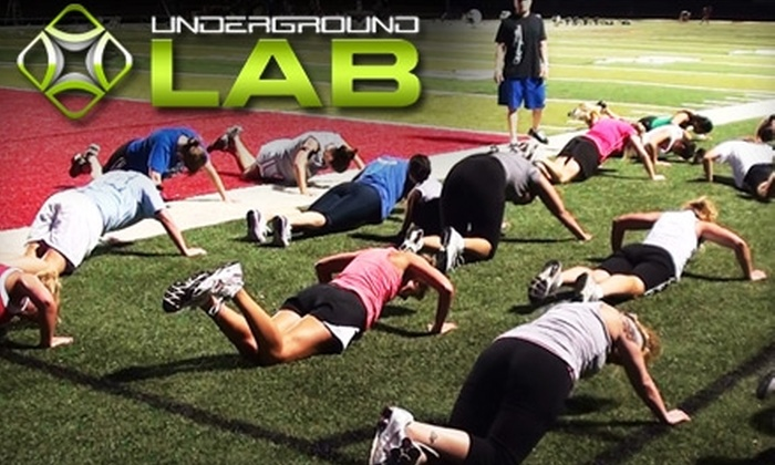 The Underground Lab - Lawrence: $37 for One Month of Boot Camp ($197 value) or Four Personal Training Sessions ($145 value) at the UnderGround Lab in Lawrence