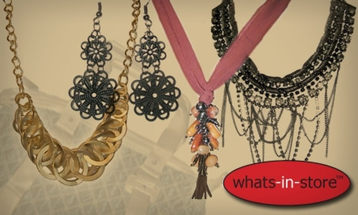Whats-in-Store - New York City: $20 for $50 Worth of Jewelry, Accessories, and More at Whats-in-Store