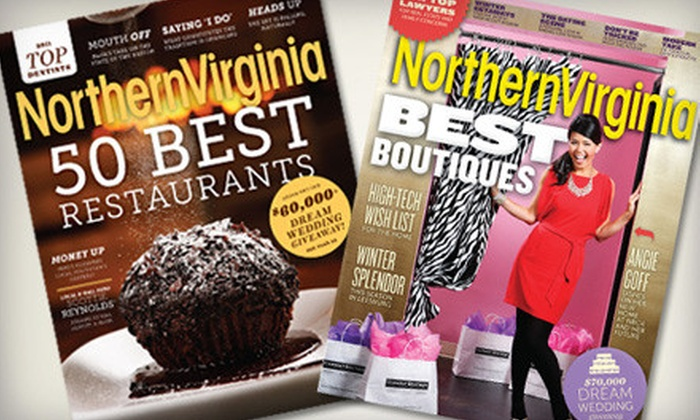 """""""Northern Virginia Magazine"""": One- or Two-Year Subscription to """"Northern Virginia Magazine"""" (Half Off)"""