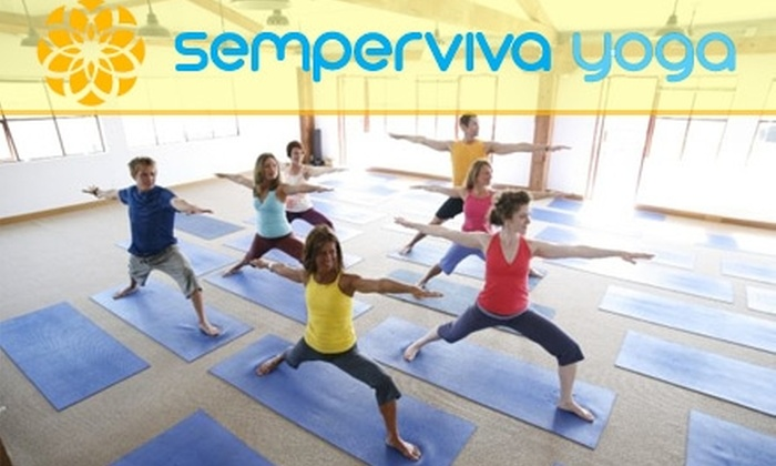 Semperviva Yoga - Multiple Locations: $11 for One Week of Yoga Classes at Semperviva Yoga ($23 Value)