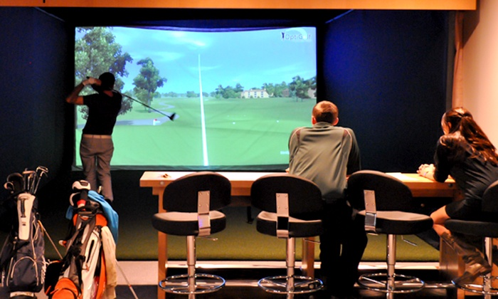 OptiGolf - Middleton - The Clubhouse Golf and Entertainment : Two or Four Hours of Simulated Golf for Two at OptiGolf (Up to 66% Off)